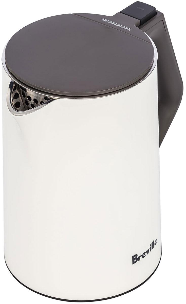 Breville K360 электрический чайник67993Электрочайник Breville K360 имеет особую конструкцию с двойными стенками. Она значительно уменьшает уровень шума при закипании, помогает длительное время поддерживать постоянную температуру воды, а также предотвращает получение ожогов при случайном прикосновении.Высокая мощность в 2200 Вт обеспечивает нагрев воды за считанные минуты. Нагревательный элемент чайника закрыт плоским стальным дном, что позволяет обеспечить равномерность нагрева, а также защитить спираль от коррозии и накипи и облегчить очистку.Система автоматического отключения сработает при закипании и при случайном включении чайника с недостаточным количеством воды, что предотвратит перегрев. Чайник удобен в использовании – его можно устанавливать на подставку в любом удобном положении. В подставке есть место для наматывания сетевого шнура.