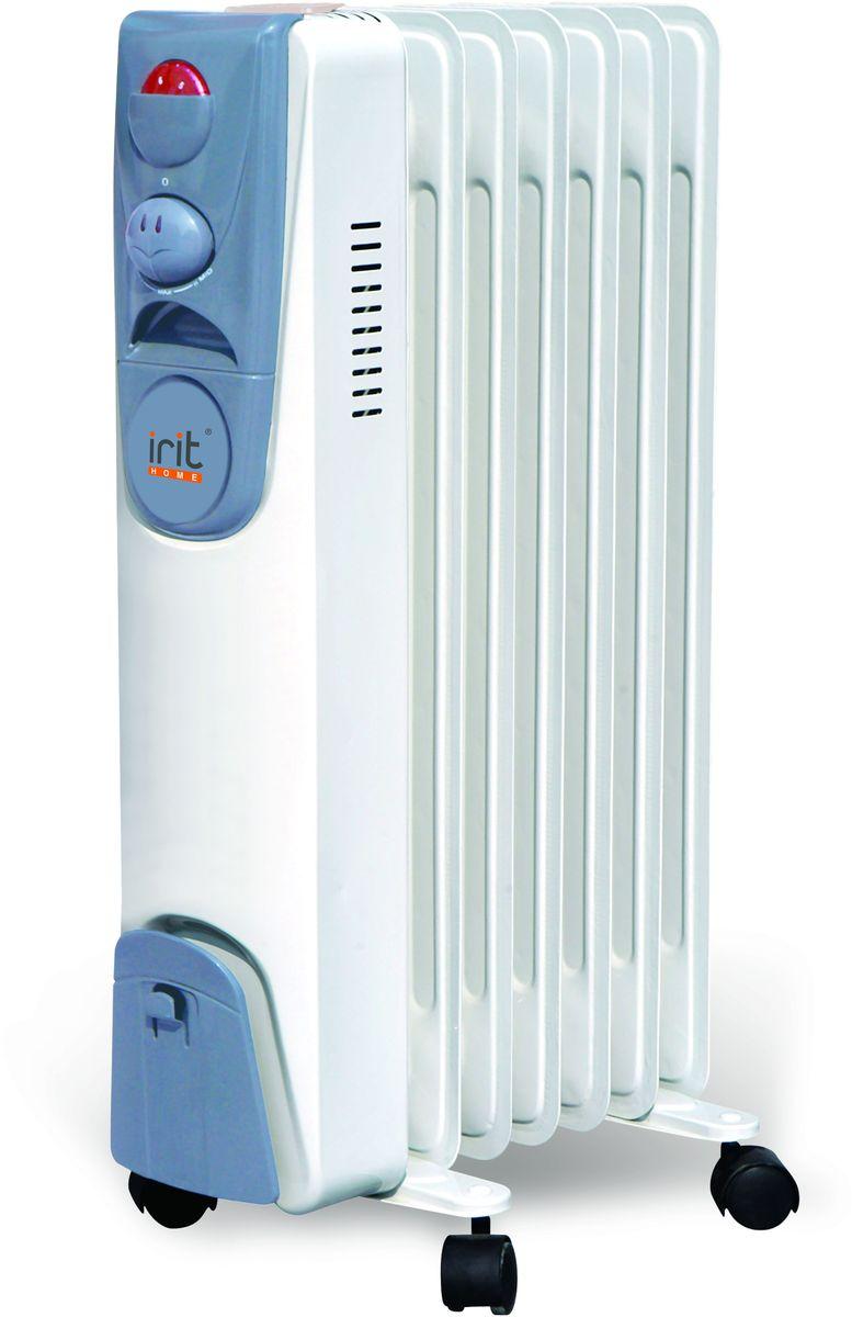 Irit IR-07-1507 радиатор масляныйIR-07-1507Радиатор масляный электрический, мощность 1500 Вт, 7 секций Регулируемый термостат, 2-х поз. переключатель ступеней мощности, световой индикатор работы, защита от перегрева, место для намотки шнура.