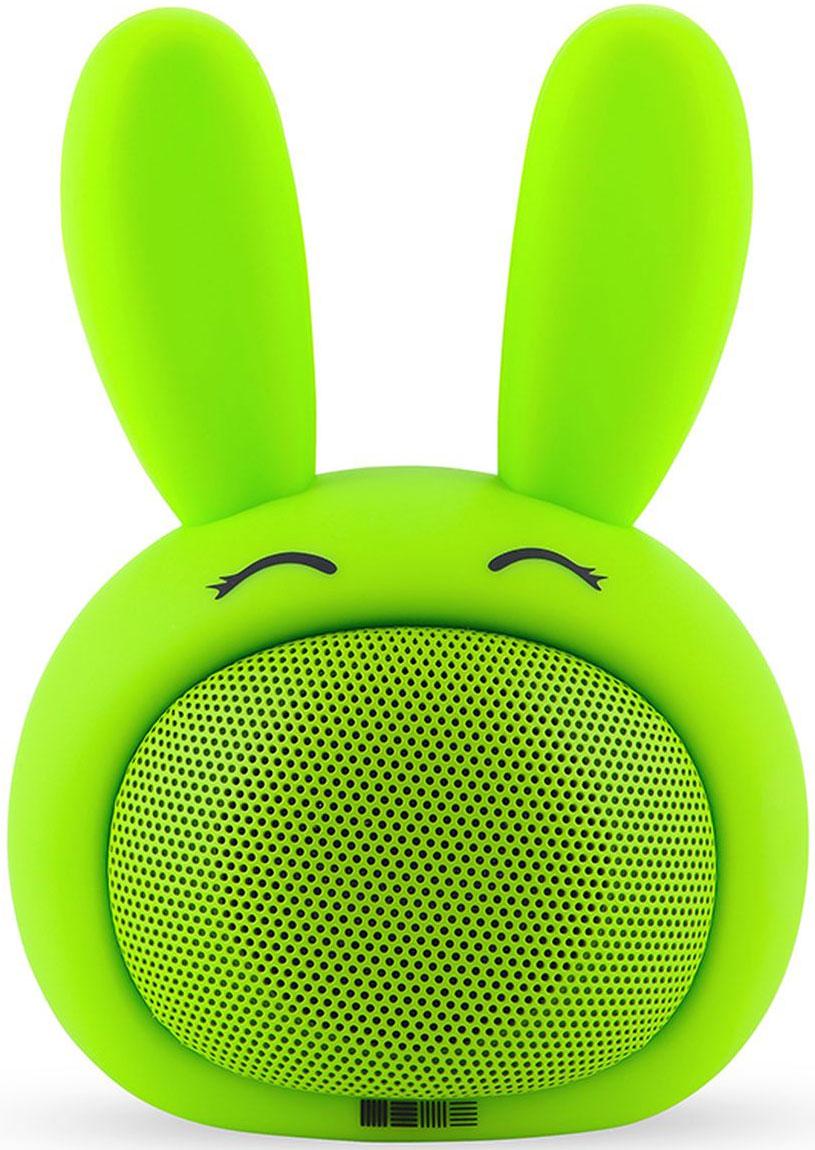 Interstep Funny Bunny 3W SBS-150, Green портативная Bluetooth-колонка47687Портативная колонка 3W, 2 способа подключения, гиппоалергенные материалы, кабель для зарядки в комплекте.Bluetooth 2. 1Дистанция до 5 метровМощность 3 WЧАстотный диапазон 100Hz-20KHzЧувствительность 82 dBСопротивление 4 Омрежимы работы : bluetooth / AUX Время работы 5 чВстроенный акб 400 mAh Li-ionЗаряд 5V/1A