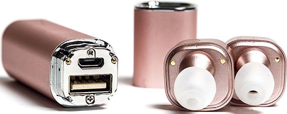 Mettle TWS-S1, Rose Gold беспроводные наушникиTWS-S1 Rose GoldНаушники без проводов теперь возможны! Mettle TWS-S1 позволят вам легко и быстро синхронизировать смартфоны, планшеты и другие музыкальные устройства. Bluetooth с усовершенствованной технологией аудиодекодирования обеспечивает беспроводное подключение к вашему смартфону и к другим Bluetooth устройствам. Сверхмалые стереофонические беспроводные наушники с высоким качеством звука. Гладкая и инновационная портативная система зарядки. 2 в 1 Bluetooth-гарнитура и зарядное устройство. Высокое качество, современный дизайн и красочные цвета. Специальная технология уменьшает внешние шумы, что позволяет четко слышать звук микрофона.