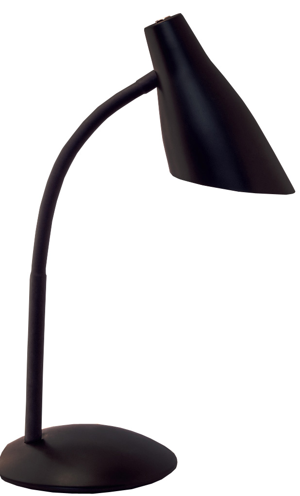 Настольная лампа Школьник, цвет: черный. S-2304606400510536У любого школяра должно быть рабочее место для письма, чтения, рисования, игр на компьютере. Хорошо организованная зона помогает ему в учебе. Настольная лампа необходим как источник направленного света, так как рассеянных потоках ребенку трудно фокусировать взгляд на символах, считывать информацию. Мы предлагаем Вам новый настольный светильник «Школьник» в четырех цветовых решениях. Вся конструкция светильника выполнена из ABS-пластика и металла. Его размеры составляют: высота 39 см, диаметр основания 16 см. В светильнике используется лампа с цоколем Е14 («миньон») и мощность 40 Вт. Напряжение сети 220В, частота 50 Гц. ВНИМАНИЕ! При использовании ламп накаливания у светильника сильно нагревается плафон. Поэтому рекомендуем использовать компактные люминесцентные или светодиодные лампы.