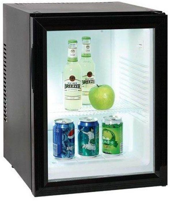 GASTRORAG BCW-40B, Black холодильникBCW-40BХолодильный шкаф витринного типа GASTRORAG BCW-40B термоэлектрический (без компрессора), вентилируемый, no frost, +3...+10 °С, 40 л, 1 стеклянная дверца, 2 полки-решетки, подсветка, цвет черный.