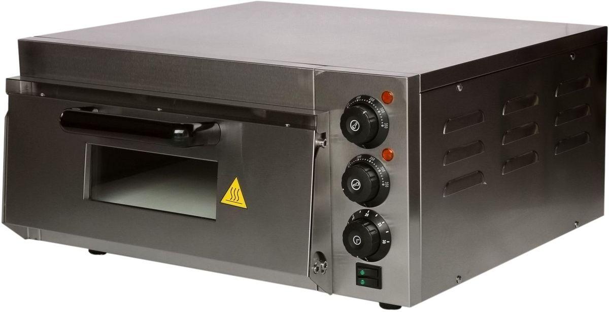 GASTRORAG EP-1ST мини-печьEP-1STПечь для пиццы GASTRORAG EP-1ST электрическая, 1 модуль, размеры камеры 400 х 400 х 120 мм, дверца со смотровым окном, керамический под, независимый верхний и нижний нагрев, температура выпечки 50-350 °С, таймер 0-30 мин