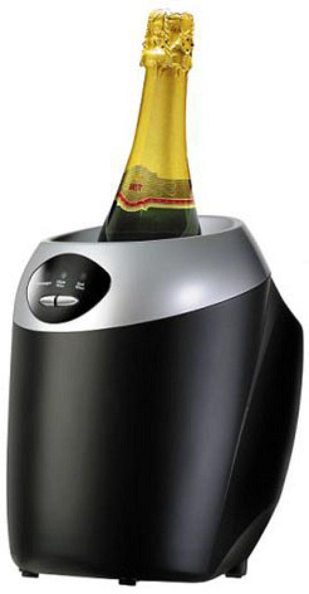 GASTRORAG JC8611, Black холодильникJC8611Охладитель бутылок GASTRORAG JC8611 термоэлектрический (без компрессора), 3 рабочих температуры (шампанское, белое вино, красное вино), вместимость 1 бутылка диаметром до 100 мм, цвет черный, в комплекте с сетевым адаптером DC 12V 5A