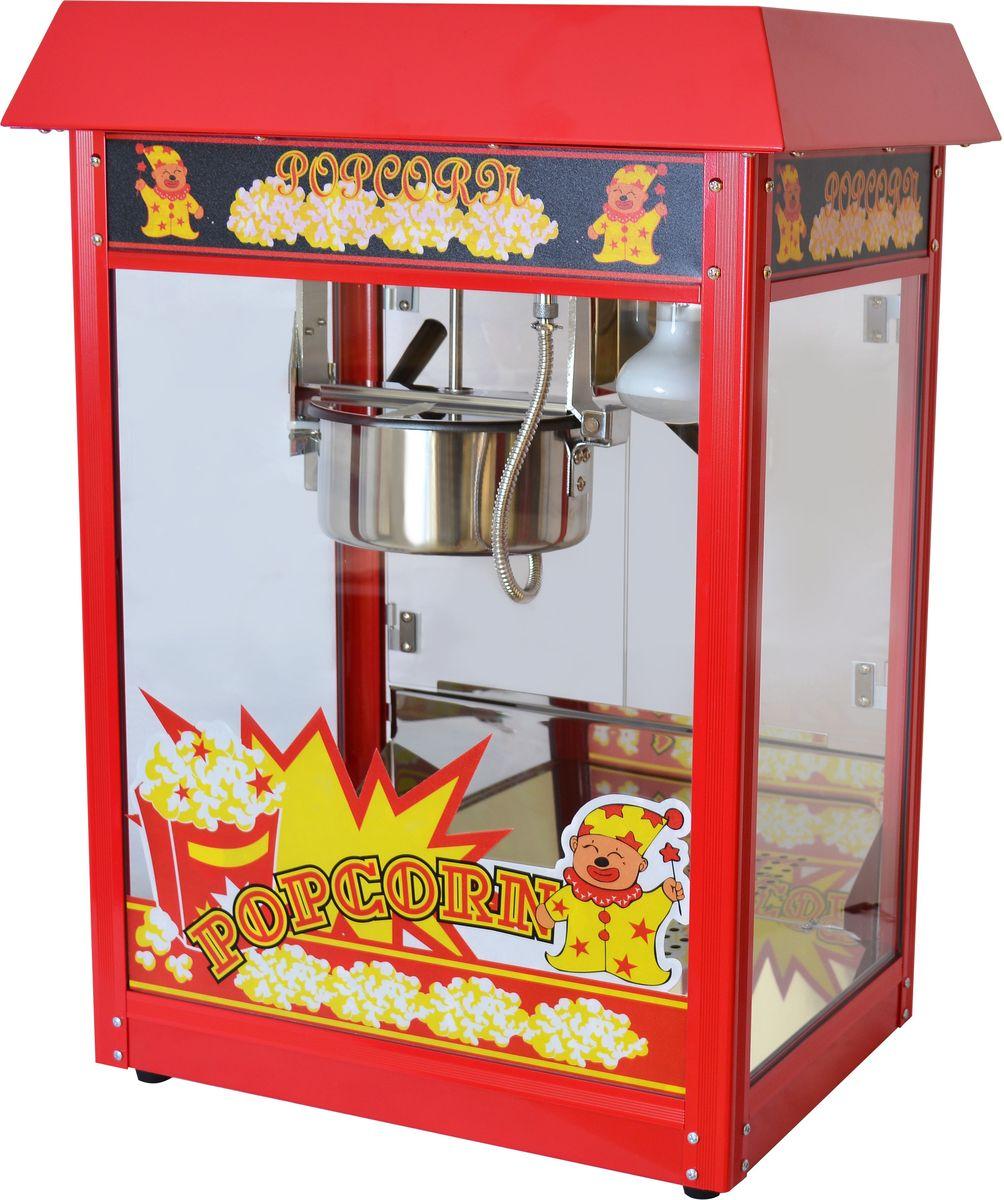 GASTRORAG VBG-POP6A-B, Red Black попкорн мейкерVBG-POP6A-BАппарат для попкорна GASTRORAG VBG-POP6A-B настольный, Люкс (с канапе), разовая загрузка 230 г, производительность 1 котел/2 мин, материал корпуса - окрашенная сталь, цвет красный/черный