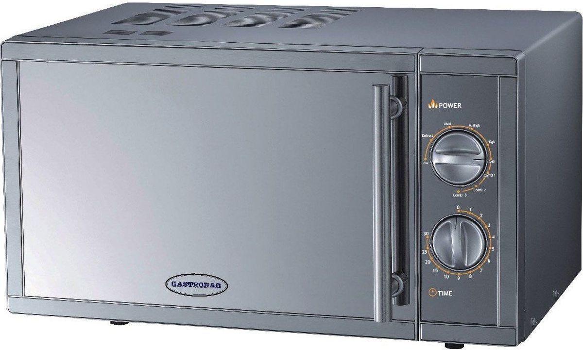 GASTRORAG WD90023SLB7 СВЧ-печьWD90023SLB7Микроволновая печь GASTRORAG WD90023SLB7 настольная, с грилем, мощность СВЧ 900 Вт, мощность гриля 1000 Вт, емкость камеры 23 л, нержавеющая сталь