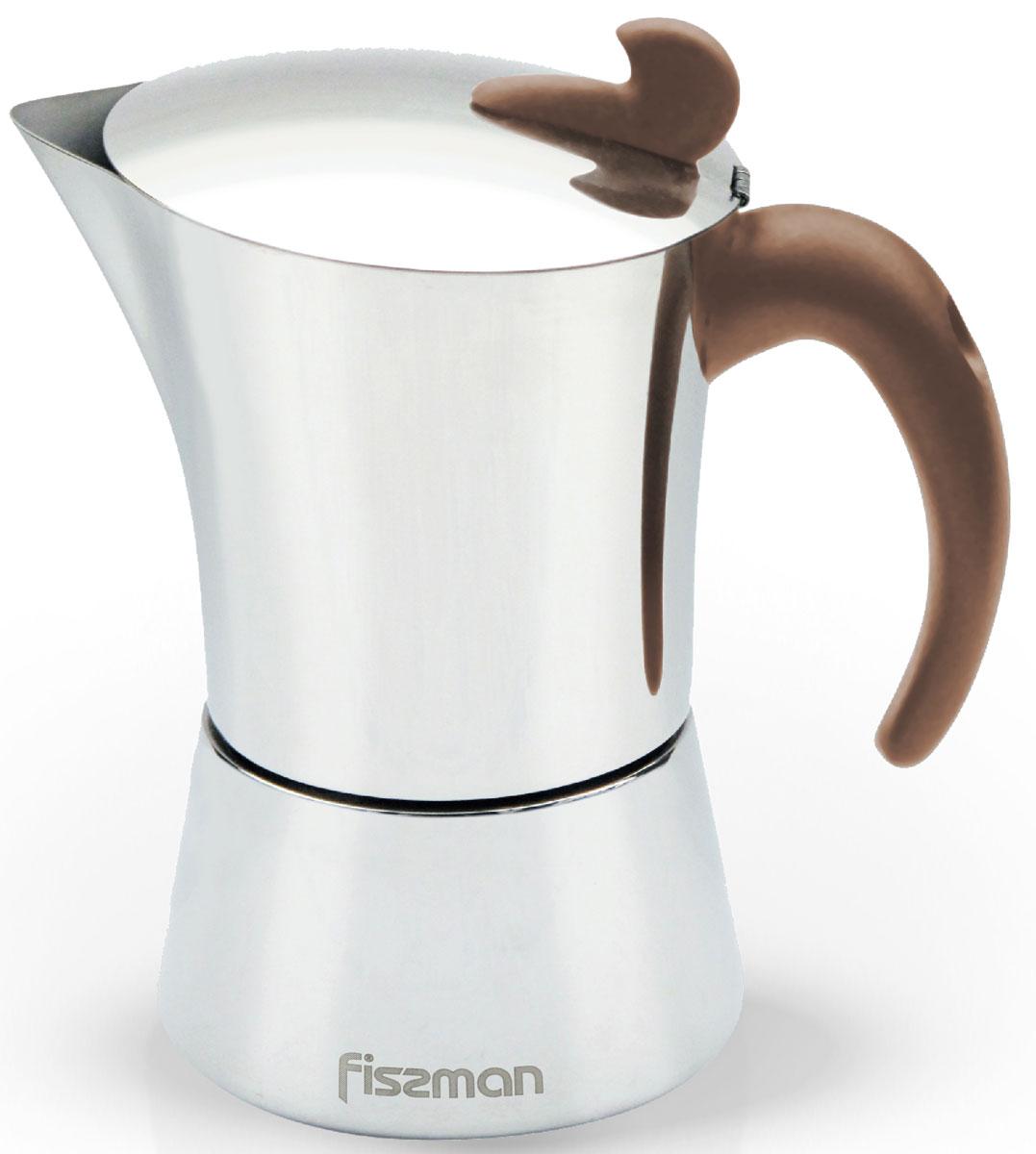 Кофеварка гейзерная Fissman, на 4 порции, 240 млEM-9414.6Перед первым использованием посуду следует помыть и протереть сухой тряпкой.