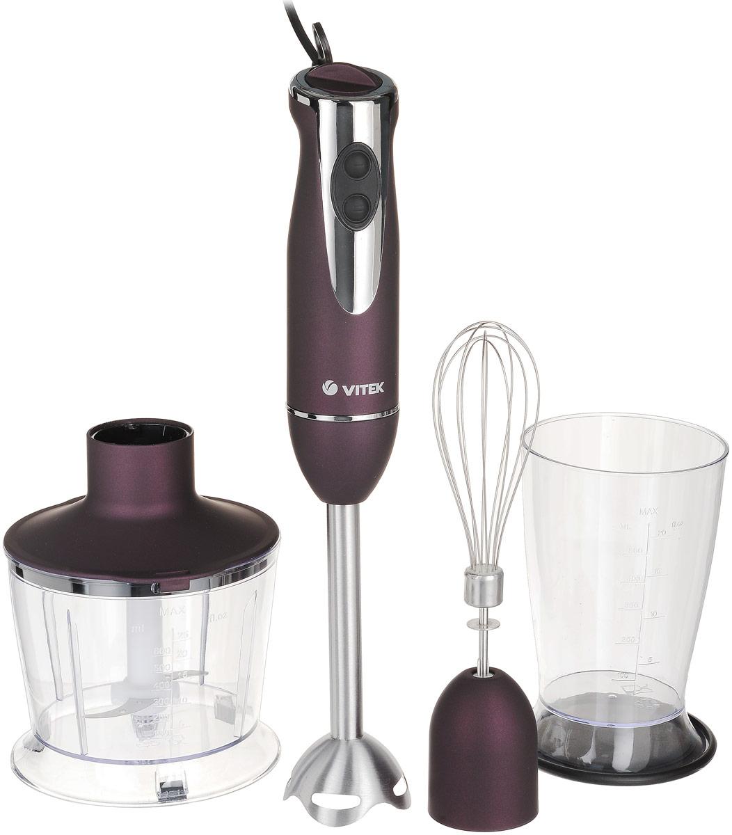 Vitek VT-1468(BD) блендерVT-1468(BD)Блендер Vitek VT-1468(BD) отлично подойдет для мелкого измельчения продуктов до придания им однородной массы. Теперь вы можете быстро приготовить пюре, вкусный десерт, создать ароматный и полезный домашний майонез и другие соуса. Для блендера от Vitek всегда найдётся немало работы на вашей кухне.