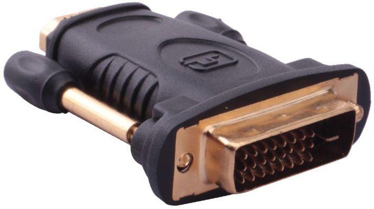 Vention DVI 24+1 M- HDMI 19F адаптер-переходникDV380HDПереходник предназначен для подключения источника видеосигнала с разъемом DVI и устройства отображения с разъемом HDMI.Продукция соответствует следующим сертификатам: RoHS, CE, FCC, TIA, ISOТип разъема: HDMI 19M / DVI-D 24+1MПоддержка: TMDS, Dual link, QXGA, HDTV, WQXGA, WUXGA, HDMI v1.4 - 2k * 4k - Full HD 2160p - High speed ethernet + 3D, ARC(реверсивный звуковой канал)Пропускная способность интерфейса: до 9.9 Гбит/сек.Контакты: 24К позолоченныеТип оболчки: ПВХ - экранированный(фольга)Материал проводника: чистая бескислородная медьЦвет: черный