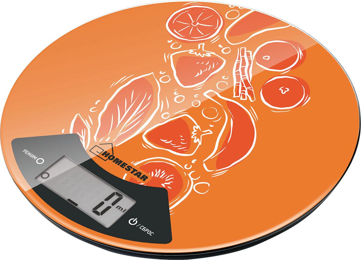 HomeStar HS-3007 Fruit кухонные весы54 003005Максимальная нагрузка: 7 кгСтеклянная поверхностьДиаметр 20 смЦена деления: 1 гСенсорное управлениеЕдиницы измерения: грамм, килограмм, унция, фунтыФункция тарыИндикатор заряда батарейкиАвтоматическое отключениеРабота от батарейки 1*2032CR (входит в комплект)Состав (материал): стекло, пластик, металл