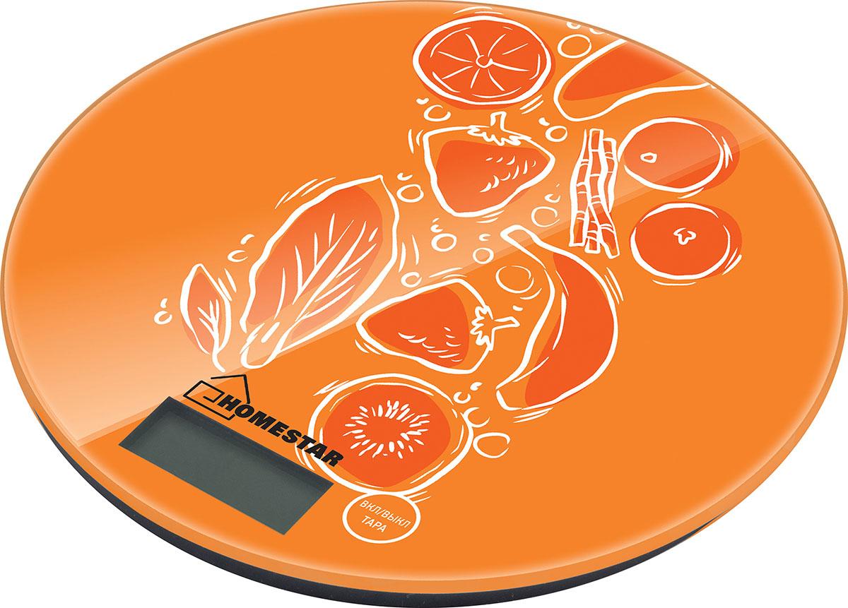 HomeStar HS-3007S Fruit кухонные весы54 003063Максимальная нагрузка: 7 кгСтеклянная поверхностьДиаметр 18 смЦена деления: 1 гСенсорное управлениеЕдиницы измерения: грамм, килограмм, унция, фунтыФункция тарыИндикатор заряда батарейкиАвтоматическое отключениеРабота от батарейки 1*CR2032 3В (входИт в комплект)Состав (материал): стекло, пластик, металл