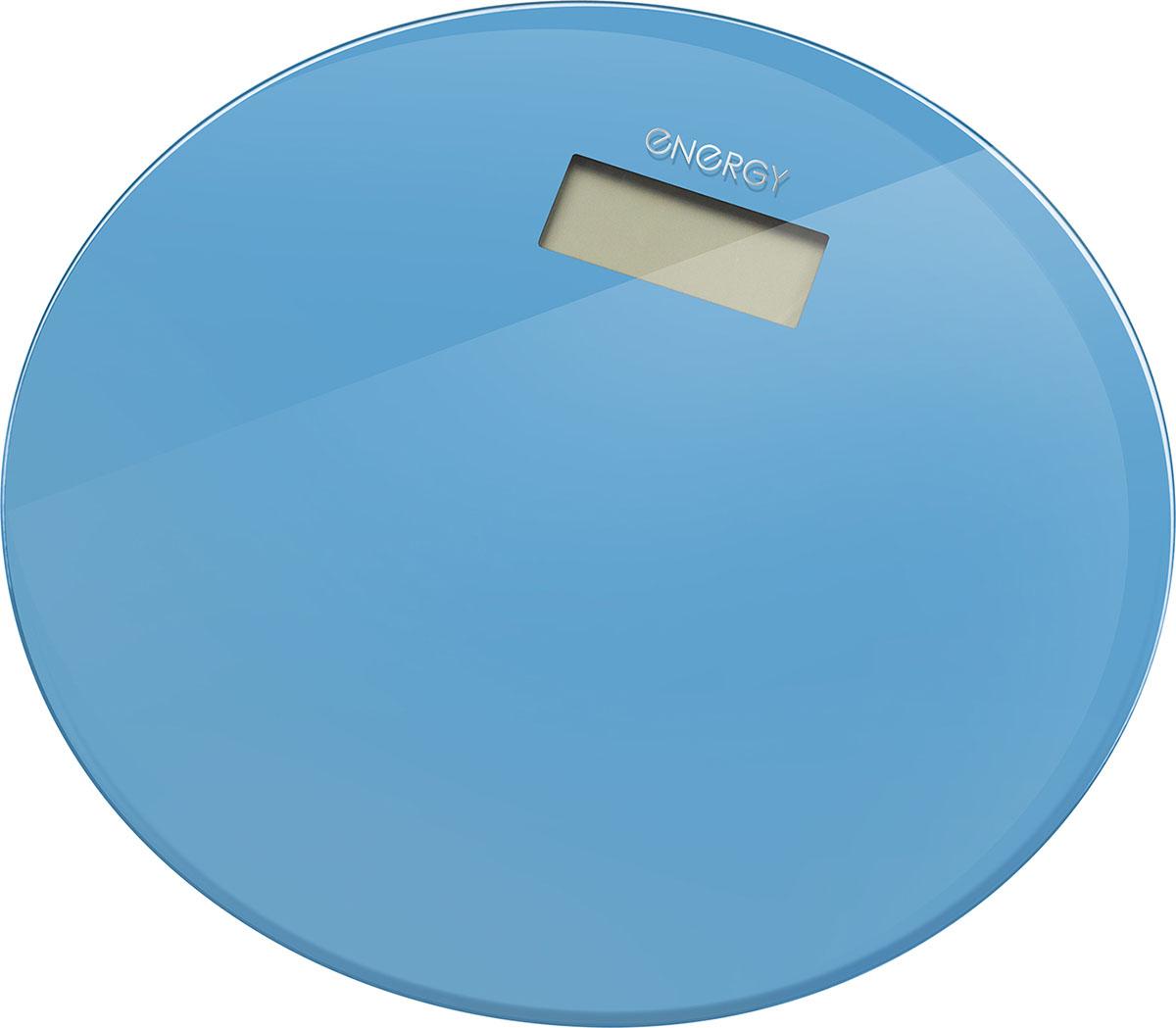 Energy EN-420 RIO, Blue напольные весы54 003493Стеклянная поверхностьДиагональ: 33 смМаксимальная нагрузка: 180 кгЦена деления: 100 граммСтеклянная платформа: 6 ммLCD дисплей, размер: 73*28 ммАвтоотключениеИндикатор перегрузки и заряда батареиПитание от батареи: 1*CR2032 (входит в комплект)