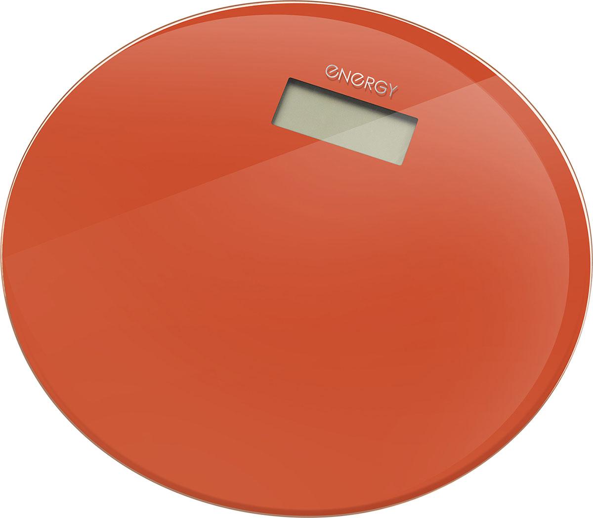 Energy EN-420 RIO, Orange напольные весы54 003495Стеклянная поверхностьДиагональ: 33 смМаксимальная нагрузка: 180 кгЦена деления: 100 граммСтеклянная платформа: 6 ммLCD дисплей, размер: 73*28 ммАвтоотключениеИндикатор перегрузки и заряда батареиПитание от батареи: 1*CR2032 (входит в комплект)