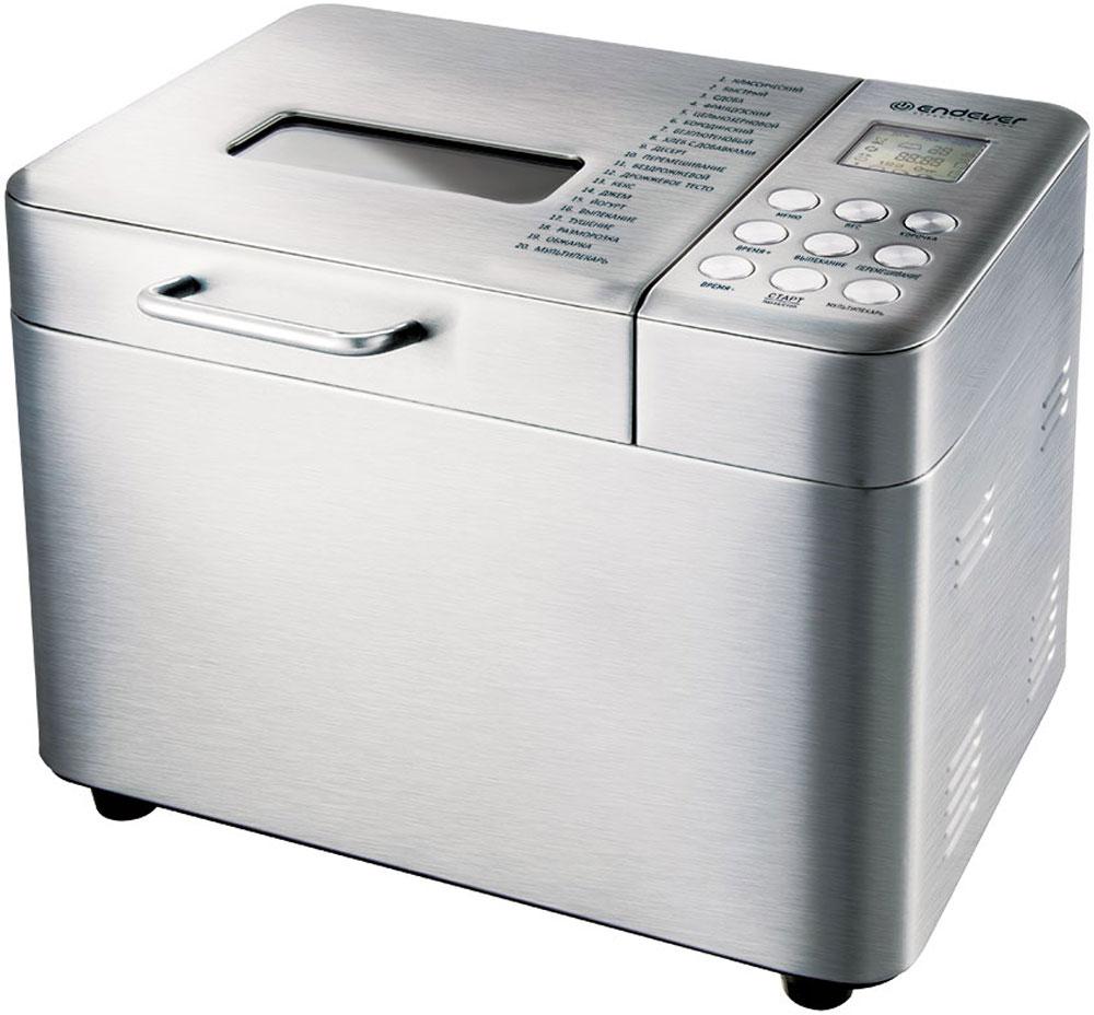 Endever Skyline MB-62 хлебопечкаMB-62С помощью хлебопечки Endever Skyline MB-62 можно приготовить хлеб, готовить пышную выпечку, различные блюда и десерты. 20 программ автоматического приготовления, включающие различные виды хлеба, а также десерты, джемы, позволяют не только создавать разнообразные, вкусные и, конечно, полезные блюда, но и существенно экономить время. В случае перебоев в энергоснабжении на срок менее десяти минут устройство способно восстановить работу в том же статусе, на котором была прервана программа.Функция отложенного старта: до 15 часовРежим поддержания тепла: до 1 часаНастройка размера буханки: 500 г/750 г/1000 гФункция паузы