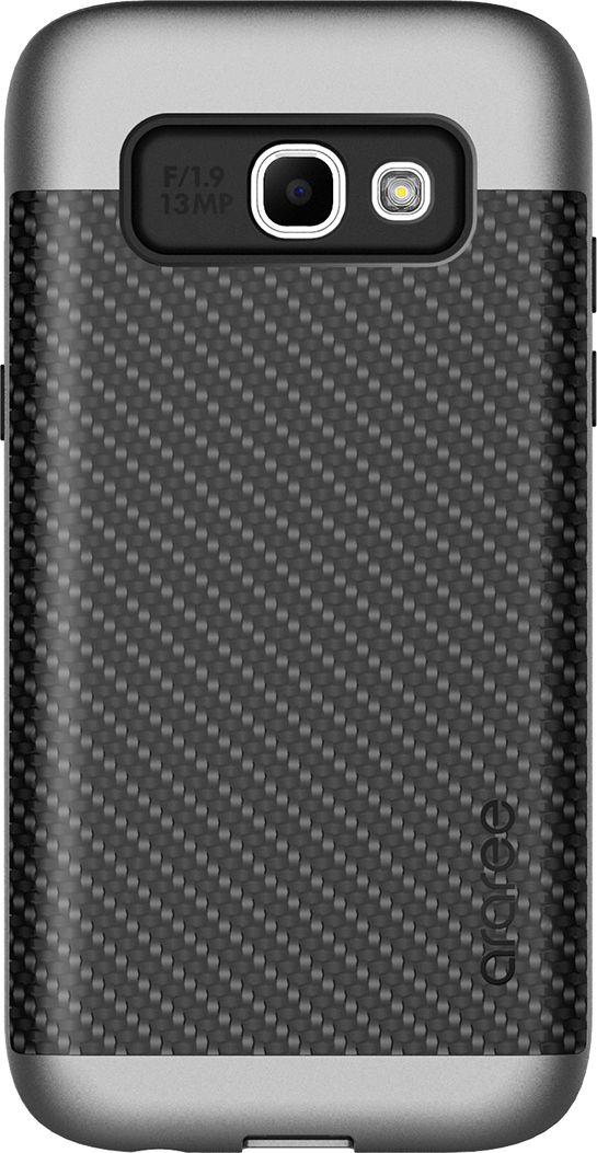 Araree Amy Classic чехол для Samsung A3 (2017), SilverAR20-00224B