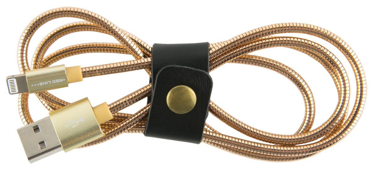 Red Line S7, Gold кабель Lightning-USB (1 м)УТ000010469Кабель Red Line S7 позволяет подключить ваш iPhone, iPad или iPod с разъёмом Lightning к порту USB на компьютере для синхронизации и зарядки. Кроме того, его можно подключить к адаптеру питания USB, чтобы зарядить устройство от розетки.