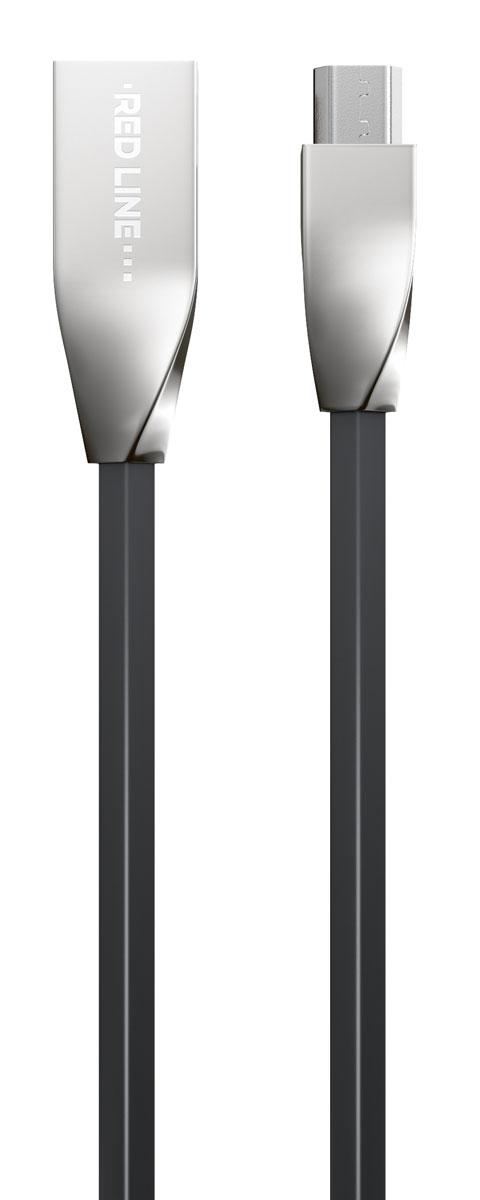 Red Line Smart High Speed USB, Black кабель USB-microUSB (1 м)УТ000010031Высокоскоростной кабель Red Line Smart High Speed USB с металлическими коннекторами предназначен для передачи данных между персональными компьютерами и смартфонами, планшетами, MP3-плеерами и прочими устройствами с портом microUSB. Кроме того, его можно подключить к адаптеру питания USB, чтобы зарядить устройство от розетки.