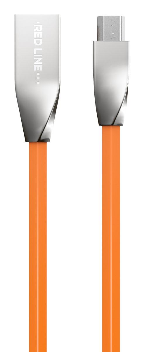 Red Line Smart High Speed USB, Orange кабель USB-microUSB (1 м)УТ000010033Высокоскоростной кабель Red Line Smart High Speed USB с металлическими коннекторами предназначен для передачи данных между персональными компьютерами и смартфонами, планшетами, MP3-плеерами и прочими устройствами с портом microUSB. Кроме того, его можно подключить к адаптеру питания USB, чтобы зарядить устройство от розетки.