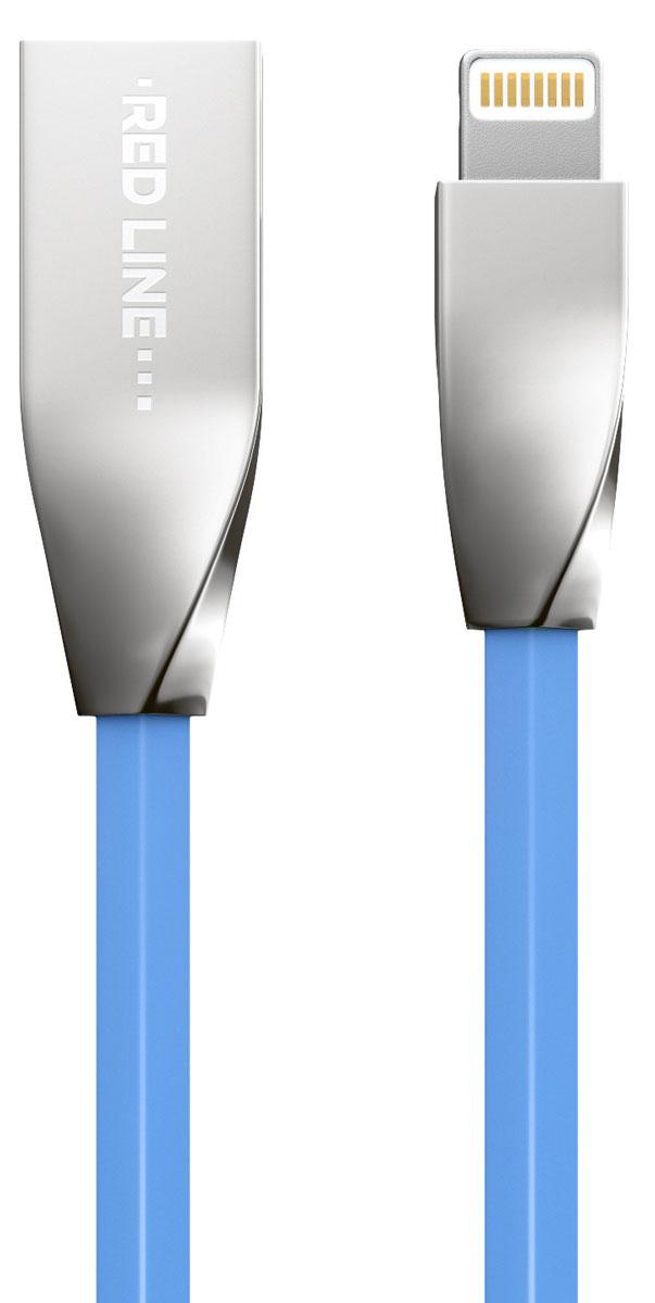 Red Line Smart High Speed USB, Blue кабель Lightning-USB (1 м)УТ000010036Высокоскоростной кабель Red Line Smart High Speed USB с металлическими коннекторами позволяет подключить ваш iPhone, iPad или iPod с разъёмом Lightning к порту USB на компьютере для синхронизации и зарядки. Кроме того, его можно подключить к адаптеру питания USB, чтобы зарядить устройство от розетки.