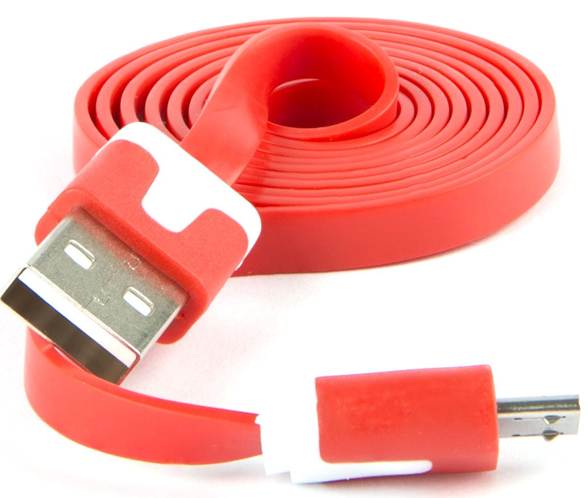 Red Line, Red кабель USB-microUSB (1 м)УТ000010322Кабель Red Line предназначен для передачи данных между персональными компьютерами и смартфонами, планшетами, MP3-плеерами и прочими устройствами с портом microUSB. Кроме того, его можно подключить к адаптеру питания USB, чтобы зарядить устройство от розетки.