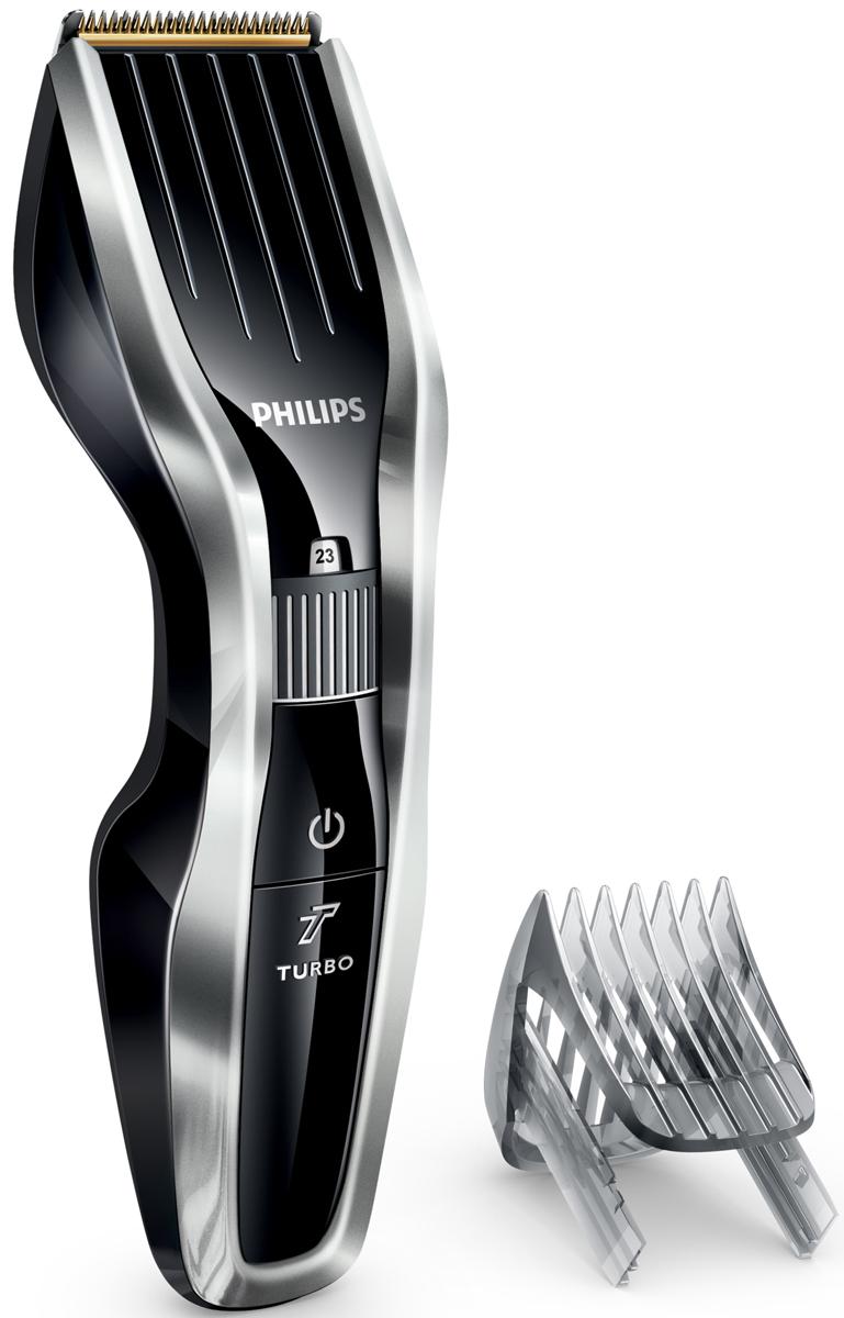 Philips HC5450/15 беспроводная машинка для стрижки волос с 24 установками длиныHC5450/15Машинка для стрижки волос Philips HC5450/15 создана для эффективной работы и долгой службы. Инновационный режущий блок, прочные титановые лезвия и регулируемый гребень — все, что нужно для быстрой и точной стрижки.Двойной режущий блок с двойной заточкой и уменьшенным трением:Усовершенствованная технология DualCut — это режущий блок с двойной заточкой и низким коэффициентом трения. Прочный корпус выполнен из нержавеющей стали, а инновационный режущий блок обеспечивает в два раза более быструю стрижку для любого типа волос по сравнению с обычными машинками Philips.Самозатачивающиеся титановые лезвия придают дополнительную прочность:Титановые лезвия прочнее стальных, они являются стандартом максимальной надежности. Кроме того, лезвия самозатачиваются, обеспечивая долгий срок службы и точную стрижку.24 установки длины от 0,5 до 23 мм, которые легко выбрать и зафиксировать:Поверните колесико для выбора и фиксации нужной установки длины. Прибор оснащен 23 установками длины: от 1 до 23 мм с шагом 1 мм. Прибор также можно использовать без гребня для подравнивания на минимальной длине 0,5 мм.1 час зарядки — 90 минут автономной работы:Для максимальной мощности и свободы движения питание прибора может осуществляться как от сети, так и от аккумулятора. 90 минут автономной работы после 1 часа зарядки.Кнопка турборежима для увеличения скорости стрижки:Кнопка турборежима позволяет увеличить скорость для оптимальной стрижки даже самых жестких волос.Съемные лезвия для удобной очистки:Просто снимите головку, чтобы освободить и очистить лезвия.