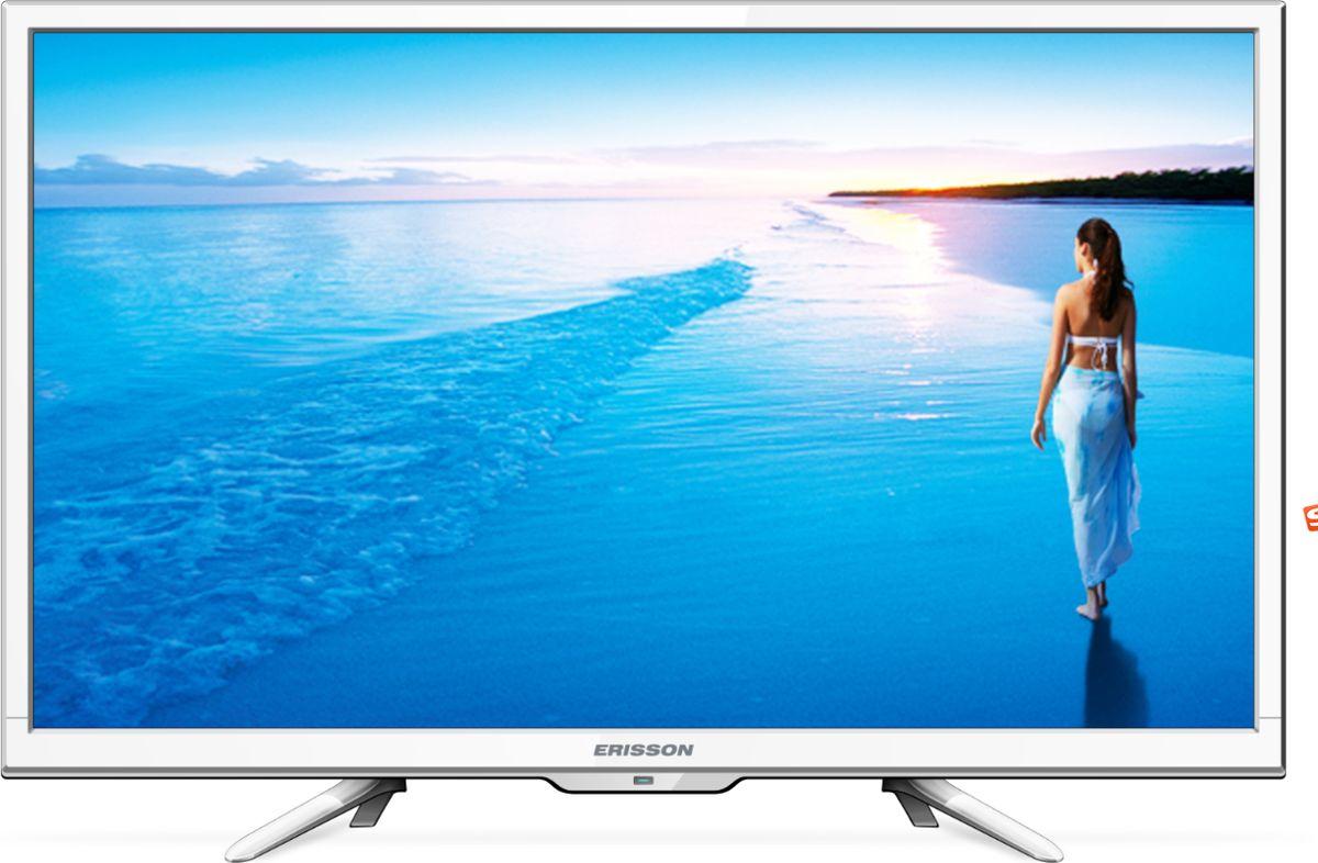 Erisson 24 LES 78 Т2 W телевизор90000000971Качественный бюджетный телевизор в белом цвете со встроенным DVB-T2 тюнером