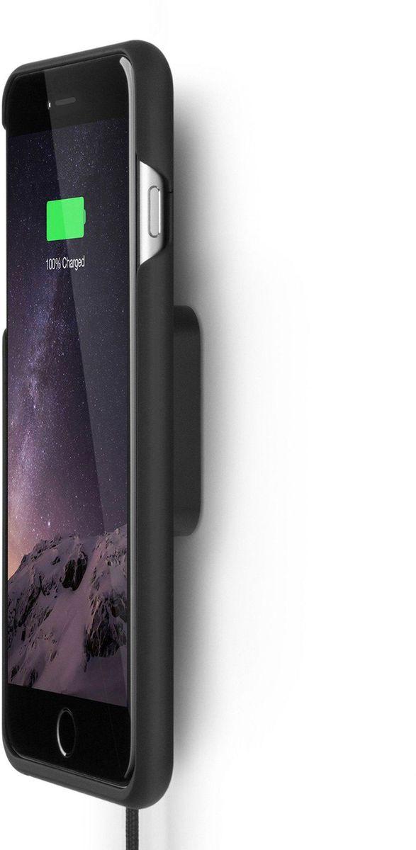 Xvida Charging Home Kit, Black беспроводное зарядное устройство для iPhone 7 Plus (WHKIS-01B-EU)WHKIS-01B-EUКомплект из магнитной док-станции и чехла для IPhone 7 Plus, 6s Plus, 6 Plus с приемником для беспроводной зарядки. Док-станция имеет магнитное крепление к стальной пластине, которая крепится на стену при помощи многоразового клейкого основания. Ультратонкий и легкий кейс выполнен из качественного софт-тач пластика с мягким покрытием внутри. Зарядка происходит в соответствии со стандартом Qi, по принципу индукционной передачи энергии. Магнитное крепление чехла совместимо со всеми зарядными устройствами и креплениями XVIDA. Зарядка при этом возможна от любого устройства с технологией Qi.• Скорость зарядки на 50% быстрее.• Доступ ко всем разъемам и кнопкам смартфона. • Магнитное крепление смартфона.• Сквозной разъем Lightning на чехле.• Стандарт питания Qi.• Размер док-станции: 50 х 50 х 20 мм.• Длина кабеля: 1 м.• USB адаптер для евро-розетки 220В в комплекте.