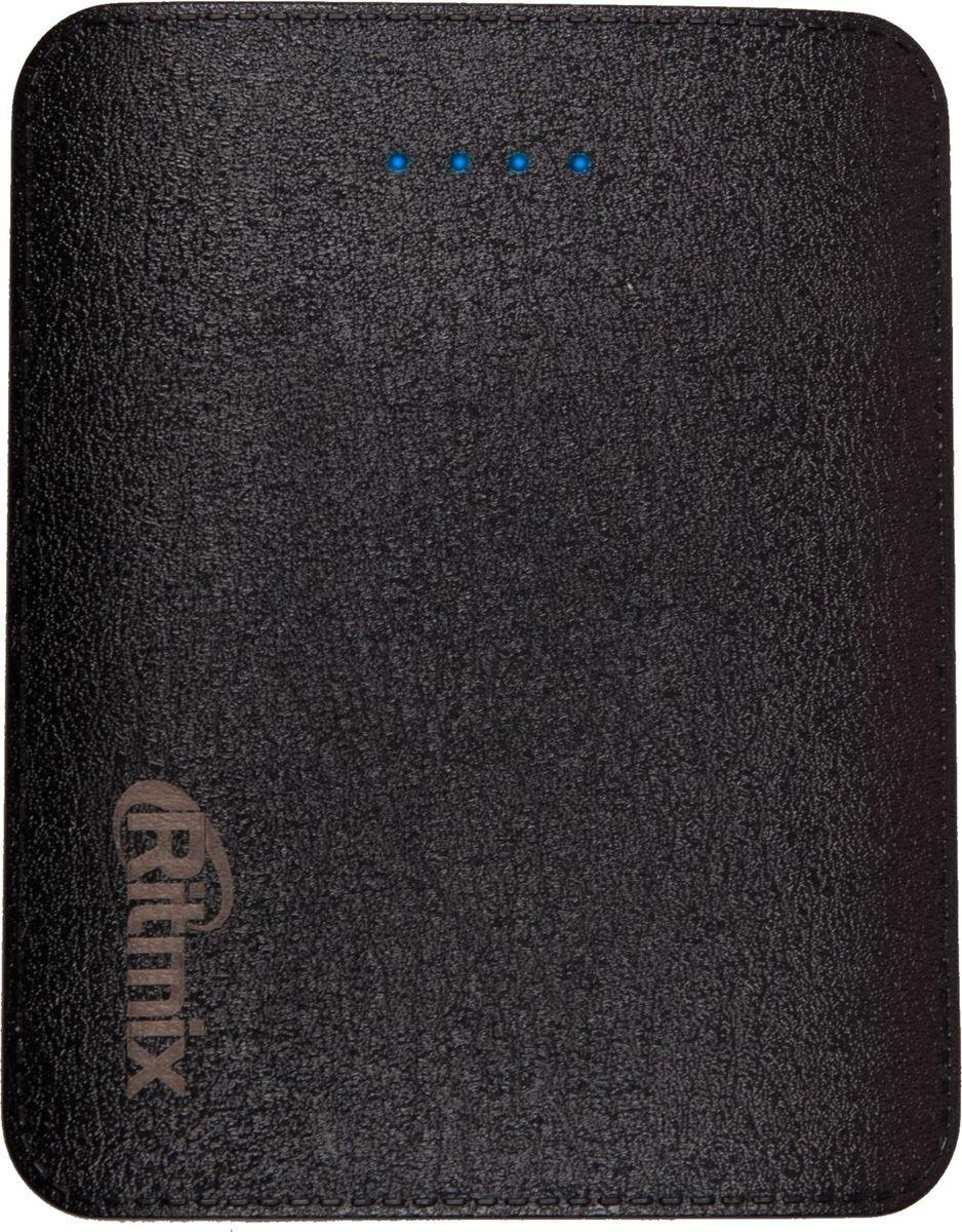 Ritmix RPB-10404LS, Black внешний аккумулятор (10400 мАч)15118761Power bank Li-Ion EXTRA CLASS оригинальная батарея ёмкость 10 400мАч выход 4xUSB 5В 3,4А, фонарик + световой индикатор заряда, размер 100*80*25, 228гр, цвет: чёрный поверхность под кожу