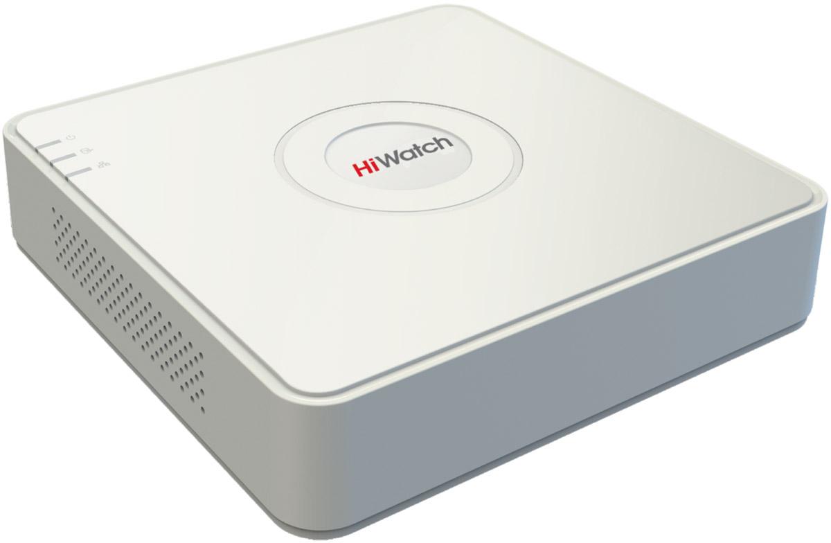 Hiwatch HD-TVI DS-H104G регистратор16000007808804-х канальный гибридный HD-TVI регистратор для аналоговых, HD-TVI, AHD и CVI камер + 1 IP-канал@1080pВидеовход: 4 канала BNC; Аудиовход: 1 канал RCA; Видеовыход: 1 VGA и 1 HDMI до 1080p; Аудиовыход: 1 канал RCA; видеосжатие H.264/H.264+; аудиосжатие G.711u.Разрешение записи на канал: TVI, AHD и CVI: 1080p Lite/ 720p@25к/с; аналоговые камеры: WD1@25к/с; IP: доп. 1 канал 1080p@25к/с. 1 SATA для HDD до 6Тб; 1 RJ-45 10M/ 100M Ethernet интерфейс; 2 USB2.0; -10°C до +55°C;12В DC; 8 Вт макс (без HDD).