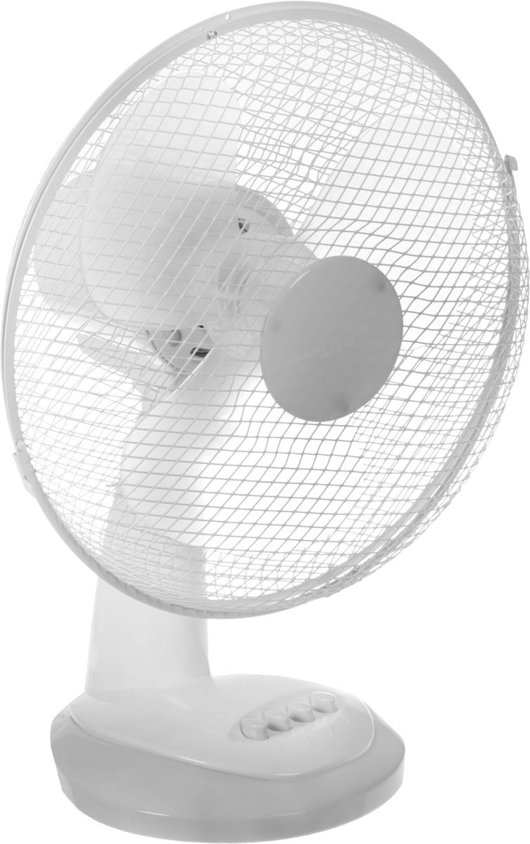 First FA-5551, White Gray вентилятор настольныйFA-5551-GRНастольный вентилятор First FA-5551 - подходящий вариант для использования в квартире. Модель занимает немного места и способна создать комфортные условия. Вентилятор имеет два режима обдува и функцию наклона, что позволяет направить поток воздуха в нужном направлении. В процессе работы корпус вращается вокруг своей оси на 90 градусов, что позволяет охладить большую площадь.