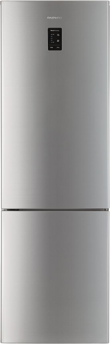 Daewoo RNV-3310ECH холодильникRNV-3310ECHОбщий объем 332л, объем хол.кам. 242, объем мороз. кам. 92, NO FROST, multi air flow, электронное управление, LED дисплей, LED освещение, R600a, энергоэффективность A+, высота 1,897, серебристый