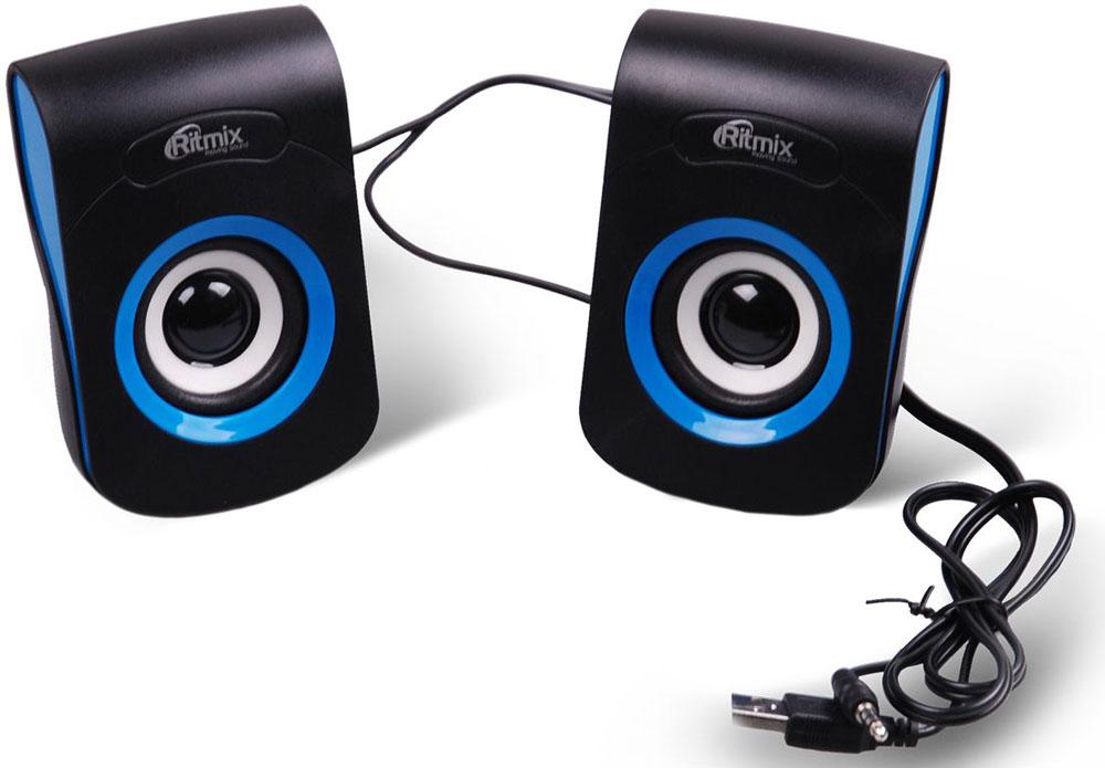 Ritmix SP-2060, Black Blue акустическая система15119010мультим. актив. акустичес. стереосист. 2.0 ritmix sp-2060 black-blue