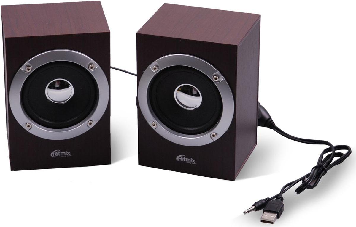 Ritmix SP-2012w, Cherry акустическая система15119015мультимед.актив. акустич. стереосис. 2.0 ritmix sp-2012w cherry