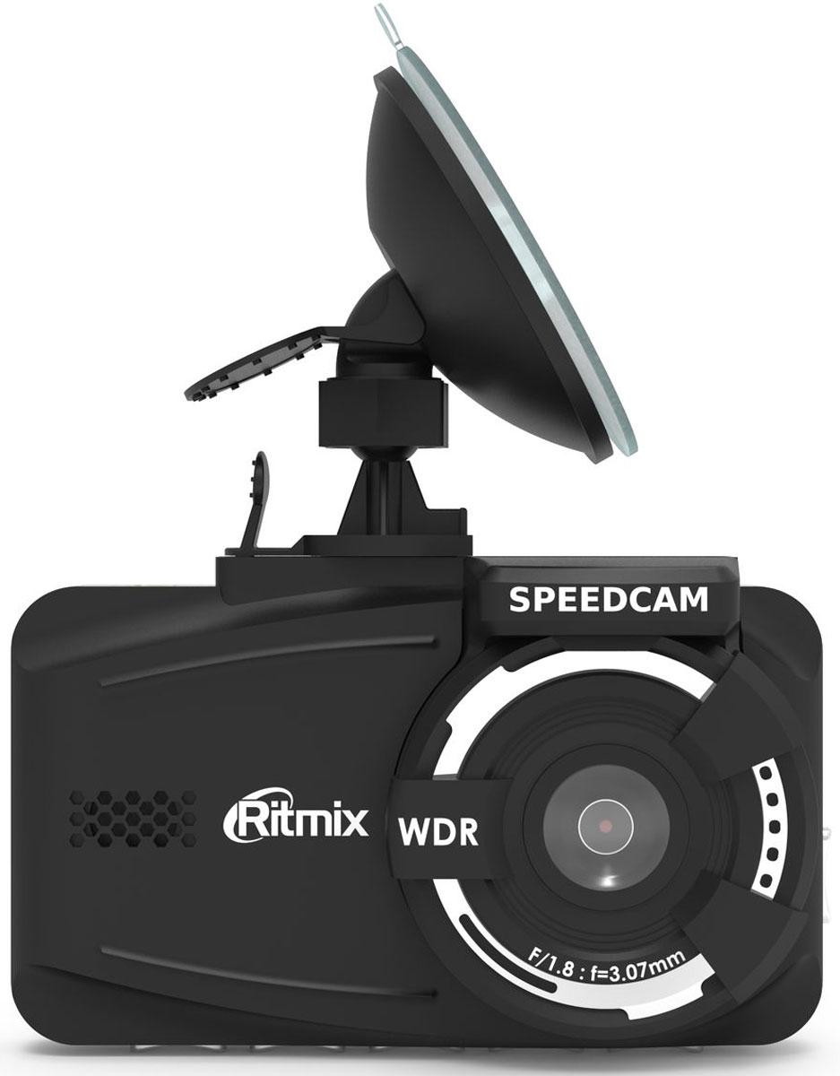 Ritmix AVR-830G видеорегистратор15119152(RITMIX SPEEDCAM) GPS+speedcam FullHD,предупреждение о камерах с обновляемой базой 3дисплей,разработка Тайвань. Сенсор SONY Exmor 2M Full HD 1080_30 кад/сек 720_30 MOV H.264 камера 140 F1.8 g-sensor, SOS, датчик движения, LDWS, FCWS