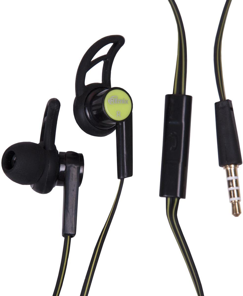 Ritmix RH-126M, Black-lignt Green наушники15119162Спорт, диам дин-ка:10 мм,частот хар-ка:20-20 КГц,Сопротивление: 32 Ом,Чувст: 92 дБ+/-3 дБ, Чувст мик:-42 дБ+/-3 дБ, Разъем: 3,5 мм,Кабель:1,2 м+/-0,3 м,В комплекте: амбушюры, пульт, инструкция