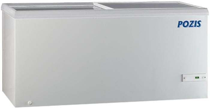 Pozis FH-258 морозильник128CVМорозильник лари со стеклянной крышкой