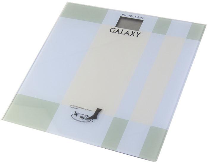 Galaxy GL 4801 весы напольные4630003362582Элемент питания CR2032, 1 шт. (в комплекте)Платформа из высокопрочного стеклаЖидкокристаллический дисплейМаксимально допустимый вес 180 кгЦена деления 100 гАвтоматическое отключениеИндикатор перегрузкиИндикация низкого заряда элемента питанияЕдиницы измерения: килограмм, фунт, стоунПрорезиненные ножки, для устойчивости и предотвращения скольжения
