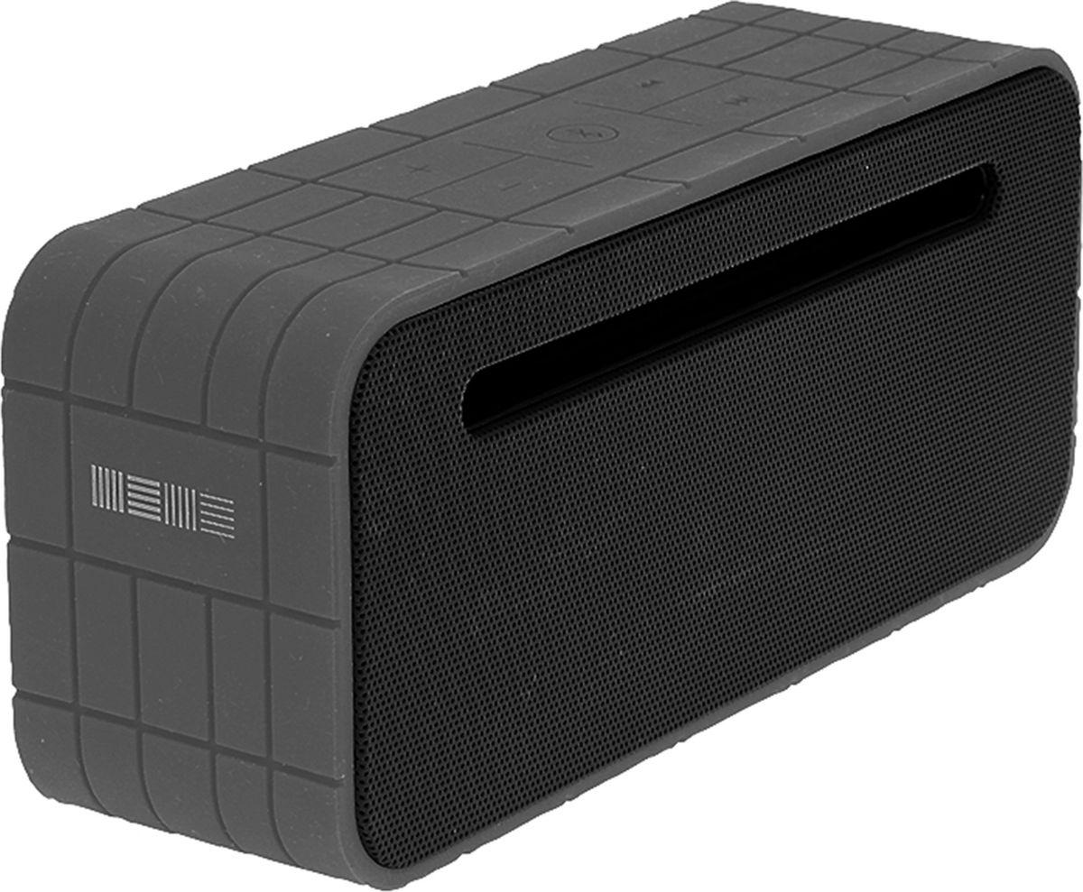 Interstep SBS-400, Grey портативная акустическая системаIS-LS-PRSBS400B-000B201Стерео Bluetooth 4.0 колонка, мощность 5W, встроенный MP3 плеер с поддержкой microSD, microUSB, HandsFree, AUX, АКБ повышенной емкости 1500mAh, резиновый противоударный бампер