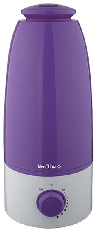 Neoclima NHL-250L, Purple увлажнитель воздуха29130Увлажнитель воздуха Neoclima NHL-250L - надежный и полезный прибор для вашего дома с вместительным объемом резервуара 2,5 литра. Данная модель имеет функцию регулировки степени увлажнения, а также способна автоматически отключаться при отсутствии воды. Прибор выполнен в оригинальном корпусе. С помощью увлажнителей воздуха стало возможным создать максимально комфортный микроклимат в помещении за короткое время. Небольшие размеры, симпатичный дизайн позволяют использовать его в домах, квартирах и офисах. В увлажнитель Neoclima NHL-250L можно заливать водопроводную воду. Фильтр-картридж (в комплекте) очистит воду от солей жесткости. Бак имеет антибактериальное покрытие.