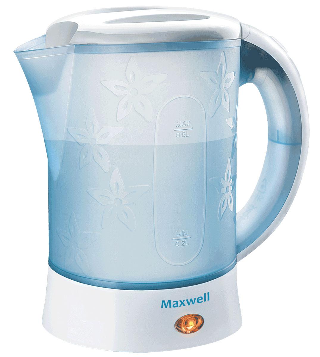 Maxwell MW-1072(B) чайникMW-1072(B)Электрический чайник Maxwell MW-1072(B) прост в управлении и долговечен в использовании. Изготовлен из высококачественных материалов. Прозрачное окошко позволяет определить уровень воды. Мощность 600 Вт вскипятит 0,6 литра воды в считанные минуты. Для обеспечения безопасности при повседневном использовании предусмотрены функция автовыключения, а также защита от включения при отсутствии воды.