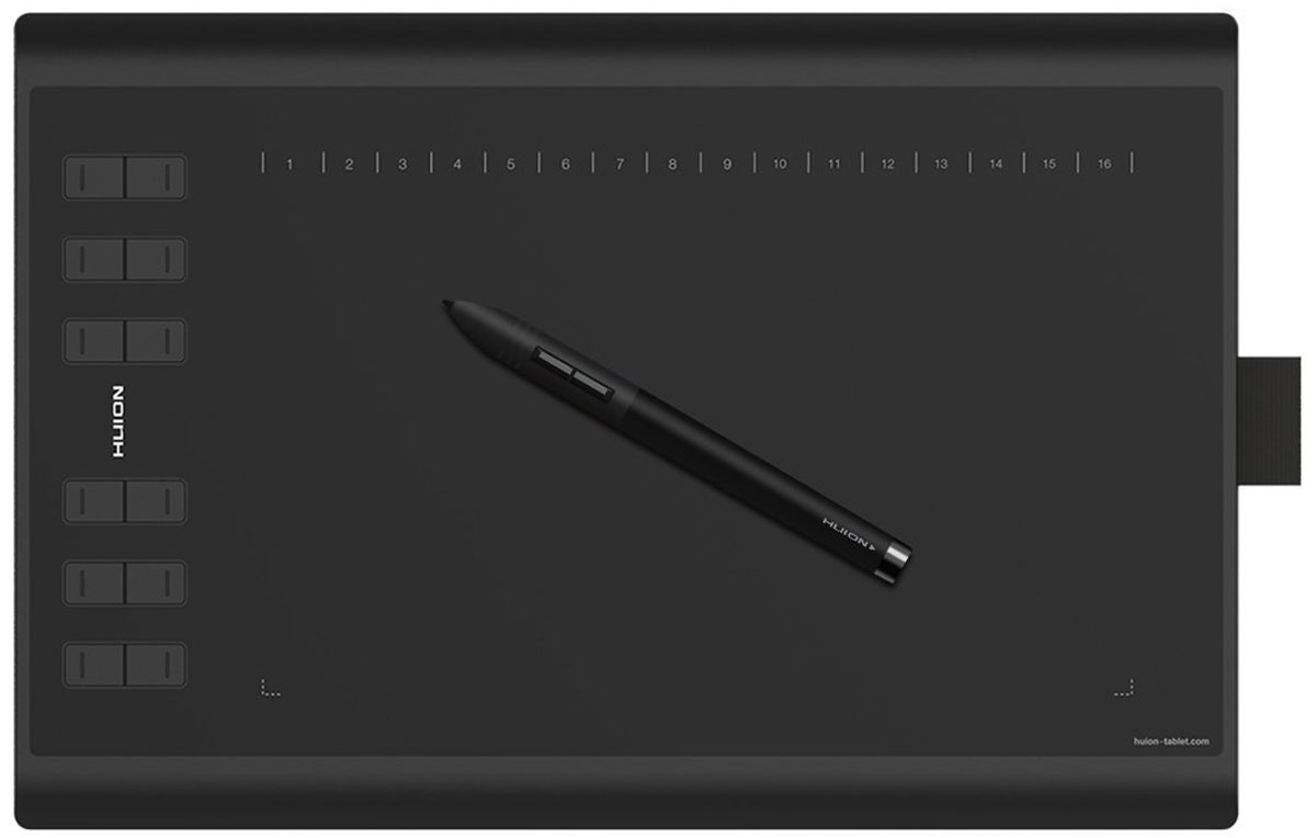 Huion New 1060 Plus графический планшетNEW 1060PLUSHuion New 1060 Plus - профессиональный графический планшет. Работает со всем программным обеспечением, включая Photoshop, illustrator, CorelDraw, ZBrush, Maya и др.Планшет оборудован новой рабочей поверхностью. 1060 Plus имеет 12 быстрых клавиш, что позволяет работать на много быстрее и удобнее.Разрешение 5080 линий на дюйм и высокая скорость интерфейса (233 RSP) позволяют создавать ваши художественные работы максимально точно и плавно. 2048,8192 уровня давления позволяют пользователю контролировать толщину, прозрачность и цвет линии. 12 экспресс-клавиш на левой и 16 программируемых клавиш на верхней части планшета позволяют адаптировать планшет под ваше программное обеспечение и повысить скорость и эффективность вашей работы.Цифровое перо может использоваться не только как инструмент для рисования, но и в качестве беспроводной мыши для PC. Более того, после зарядки пера, в течении одного часа Вы можете наслаждаться 800 часами непрерывной работы. А легкий вес и утонченный корпус делает работу более удобной и приятной.С помощью MicroSD карты, которая прилагается к планшету этой модели, вы легко и быстро сможете установить драйвер и начать пользоваться планшетом.