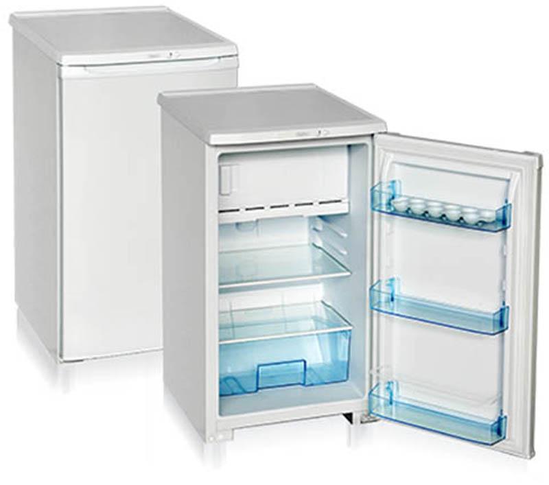 Бирюса 108 холодильникБ-108Однокамерный холодильник, общий объем 115л, объем х/к 88л, объем м/к 27л, тип упр-я механический, кол-во компрессоров - 1, класс энергоэффективности А, 86,5 х 48 х 60,5 (ВхШхГ), цвет: белый