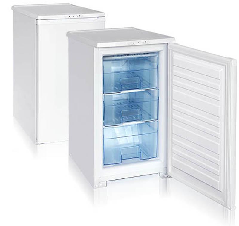 Бирюса 112 морозильникБ-112Морозильная камера, общий объем 80л, тип упр-я механический, кол-во компрессоров - 1, класс энергоэффективности А, 86,5 х 48 х 60,5 (ВхШхГ), цвет: белый