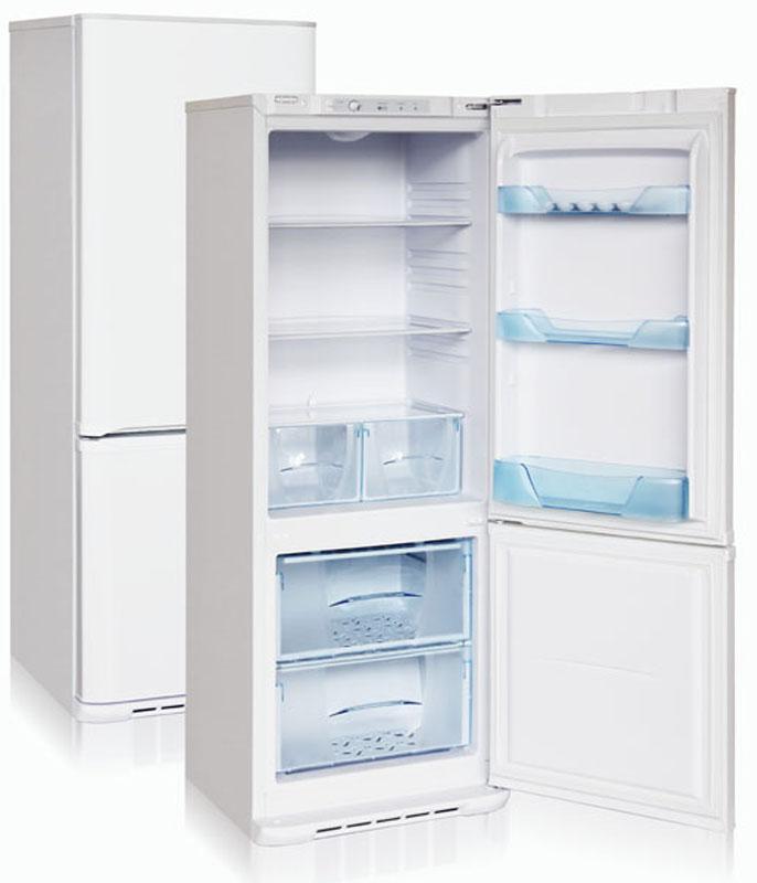 Бирюса 134 холодильникБ-134Двухкамерный холодильник, общий объем 295л, объем х/к 210л, объем м/к 85л, тип упр-я механический, кол-во компрессоров - 1, класс энергоэффективности А, 165 х 60 х 62,5 (ВхШхГ), цвет: белый