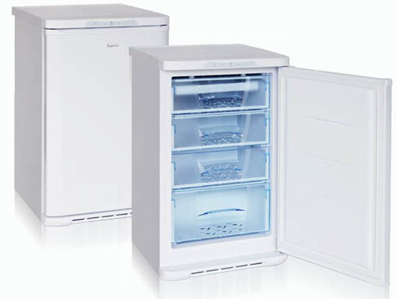 Бирюса 148 морозильникБ-148Морозильная камера, общий объем 135л, тип упр-я механический, кол-во компрессоров - 1, класс энергоэффективности А, режим Быстрая заморозка, 99 х 60 х 62,5 (ВхШхГ), цвет: белый