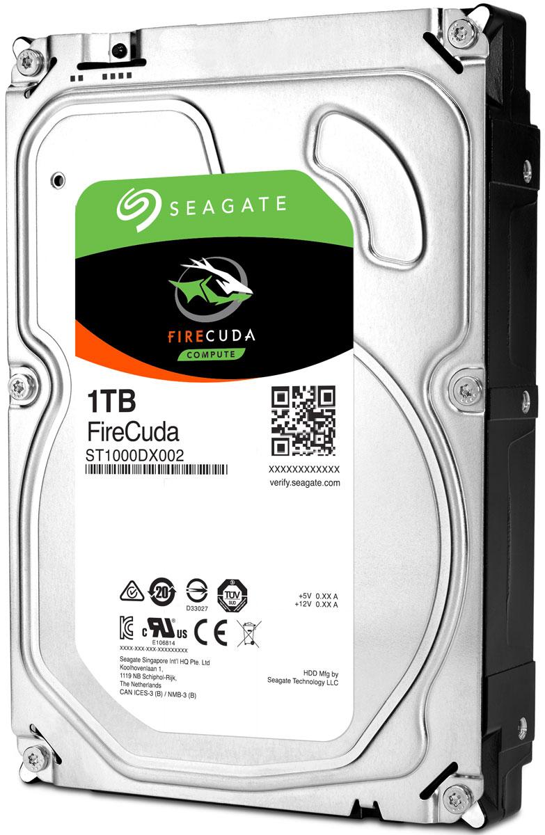 Seagate Firecuda 1TB 3,5 гибридный жесткий дискST1000DX002Играйте и работайте быстрее. В гибридных накопителях FireCuda сочетаются преимущества емких жестких дисков и новых твердотельных технологий, обеспечивающих скорость в 5 раз выше обычной.Устали ждать, пока загружаются игры и приложения? Накопители FireCuda имеют не меньшую емкость, чем обычные жесткие диски, но при этом отличаются повышенной производительностью. Они идеально подходят для геймеров, творческих работников и любителей модернизировать свои ПК.С Seagate не придется волноваться за надежность накопителя. Диски FireCuda с флеш-памятью поставляются с пятилетней ограниченной гарантией — у других производителей ее срок меньше на 2–3 года. Будьте спокойны за сохранность своих данных.FireCuda поможет не только нарастить мощность системы, но и сэкономить. Гибридные диски FireCuda с формфактором 2,5 дюйма спроектированы особым образом, поэтому они потребляют меньше энергии, чем продукция конкурентов. В результате снижается тепловыделение и, как следствие, повышается износостойкость и производительность системы, что особенно заметно в играх и при параллельной работе нескольких приложений.