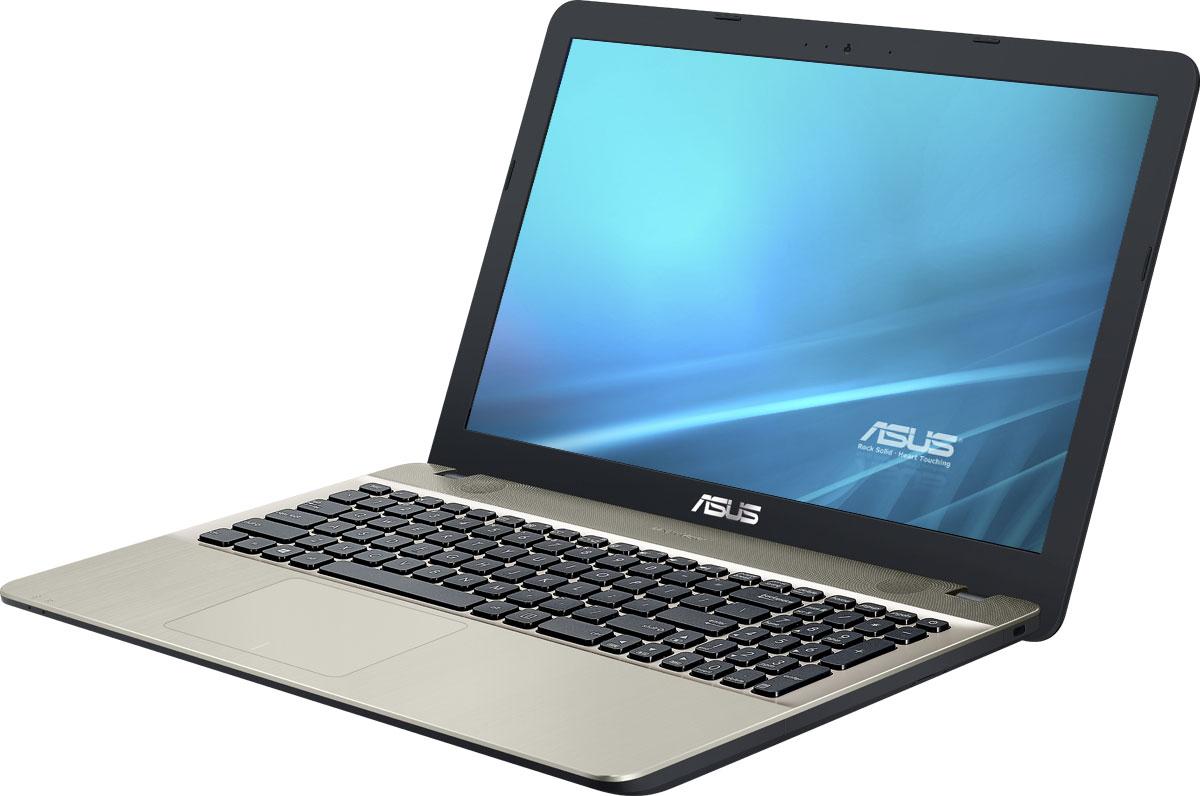 ASUS VivoBook Max X541NA, Chocolate Black (X541NA-GQ359)X541NA-GQ359ASUS VivoBook Max X541NA - это современный ноутбук для ежедневного использования как дома, так и в офисе. В его аппаратную конфигурацию входят современный процессор Intel Pentium N4200 и 4 гигабайта оперативной памяти, которые обеспечат высокую скорость работы любых приложений.Для быстрого обмена данными с периферийными устройствами VivoBook Max X541NA предлагает высокоскоростной порт USB 3.0 (5 Гбит/с), выполненный в виде обратимого разъема Type-C. Его дополняют традиционные разъемы USB 2.0 и USB 3.0. В число доступных интерфейсов также входят HDMI и VGA, которые служат для подключения внешних мониторов или телевизоров, и разъем проводной сети RJ-45. Кроме того, у данной модели имеются оптический привод и кард-ридер формата SD/SDHC/SDXC.Благодаря эксклюзивной аудиотехнологии SonicMaster встроенная аудиосистема ноутбука VivoBook Max X541NA может похвастать мощным басом, широким динамическим диапазоном и точным позиционированием звуков в пространстве. Кроме того, ее звучание можно гибко настроить в зависимости от предпочтений пользователя и окружающей обстановки.Ноутбук VivoBook Max X541NA выполнен в прочном, но легком корпусе весом всего 1,9 кг, поэтому он не будет обременять своего владельца в дороге, а привлекательный дизайн и красивая отделка корпуса превращают его в современный, стильный аксессуар.Для комфортного чтения электронных книг и журналов в ASUS VivoBook Max X541NA реализуется специальный режим Eye Care, в котором уменьшается интенсивность света в синей составляющей видимого спектра.Эргономичная клавиатура этого ноутбука обладает полноразмерными клавишами, каждая из которых наделена оптимизированным сопротивлением нажатию. Ваши руки не устанут даже после долгой работы с текстом.Тачпад, которым оснащается модель X541NA, обладает большой сенсорной панелью и поддерживает множество различных жестов: скроллинг, масштабирование, перетаскивание и т.д. За их корректное и быстрое распознавание о