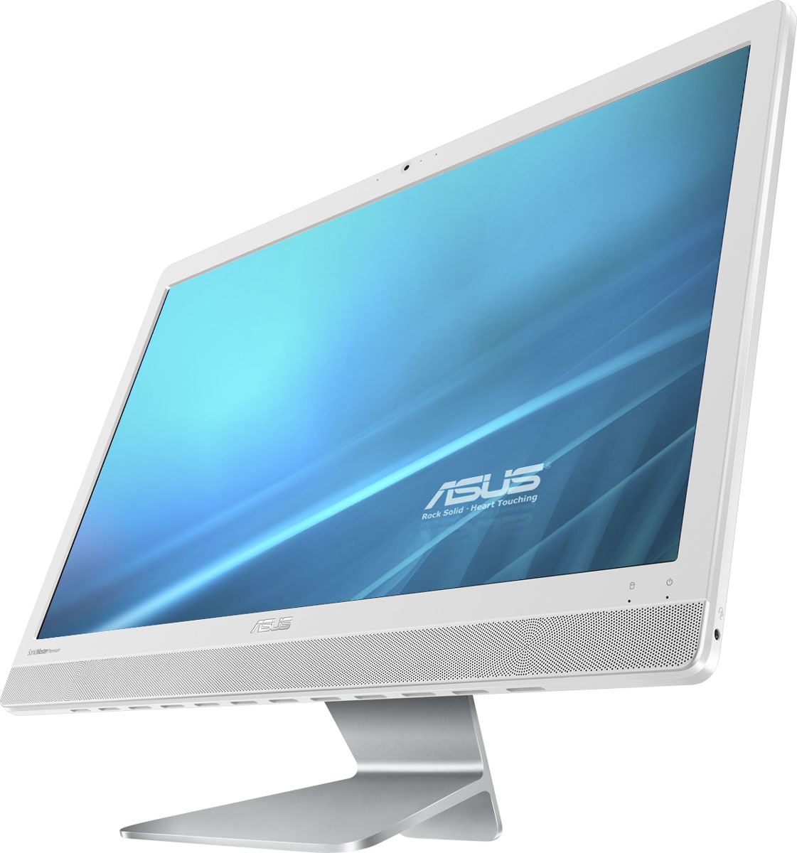 ASUS Vivo AiO V221ICUK-WA011D, White моноблокV221ICUK-WA011DASUS Vivo AiO V221ICUK - это самая тонкая модель в линейке моноблочных компьютеров Vivo AiO. Она будет особенно хороша для мультимедийных приложений, поскольку включает в себя высококачественную встроенную аудиосистему, выдающую мощный звук с минимальным уровнем искажений.При создании облика моноблочного компьютера Vivo AiO V221ICUK дизайнеры и инженеры ASUS старались минимизировать число отвлекающих деталей, но при этом сделать его максимально удобным в использовании. Изящная и прочная подставка, выполненная из цельной алюминиевой заготовки, позволяет легко задать комфортный угол наклона экрана.Vivo AiO V221ICUK оснащается 21,5-дюймовым дисплеем формата Full HD (1920х1080 пикселей), который выдает детализированную картинку с насыщенными цветами. Этому способствуют эксклюзивные технологии Splendid и Tru2Life Video, оптимизирующие изображение в зависимости от используемых приложений.В аппаратную конфигурацию Vivo AiO V221ICUK входит процессор Intel Core i3-7100U седьмого поколения, который обладает большей производительностью по сравнению с предыдущим поколением. Таким образом, этот моноблочный компьютер прекрасно подходит для повседневных задач, от просмотра сайтов и видео до работы с электронной почтой.Моноблочный компьютер Vivo AiO V221ICUK наделен высококачественной встроенной акустической системой. Включенные в ее состав фронтальные динамики используют волноводы, акустические камеры увеличенного объема и интеллектуальные усилители, чтобы обеспечить более мощный звук при минимальном уровне искажений. Впечатляющие басы и широкий динамический диапазон приятно удивят всех любителей хорошего звука.Благодаря эксклюзивной аудиотехнологии SonicMaster Premium встроенная аудиосистема компьютера Vivo AiO V221ICUK может похвастать мощными басами и кристально чистым воспроизведением вокала - даже на максимальном уровне громкости.Для настройки звучания служит функция AudioWizard, предлагающая выбрать один из пяти вар