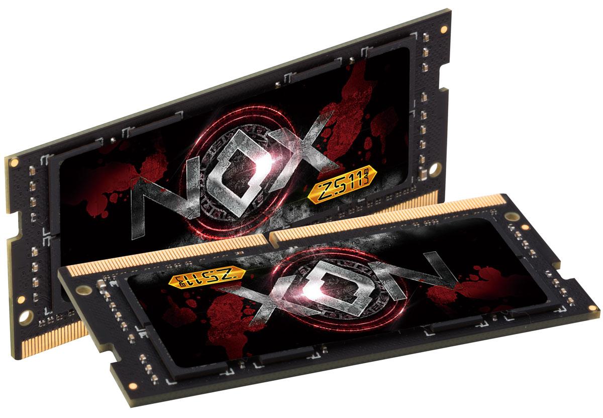 Apacer NOX SO-DIMM DDR4 2х16Gb 2400 МГц комплект модулей оперативной памяти (ES.32GAT.GEEK2)ES.32GAT.GEEK2Модули оперативной памяти Apacer NOX типа SO-DIMM DDR4 идеально подходят для игрового ноутбука и высокопроизводительной мини-системы. Предоставляют качество работы, надежность и производительность. Благодаря низкому напряжению (1,2 В), снижается потребление энергии, что обеспечивает снижение нагрева и бесшумную работу ноутбука.Общий объем памяти в 32 ГБ позволит свободно работать со стандартными, офисными и профессиональными ресурсоемкими программами, а также современными требовательными играми. Работа модуля осуществляется при тактовой частоте 2400 МГц и пропускной способности, достигающей до 19200 Мб/с, что гарантирует качественную синхронизацию и быструю передачу данных, а также возможность выполнения множества действий в единицу времени. Параметры тайминга 17-17-17-36 гарантируют быструю работу системы.