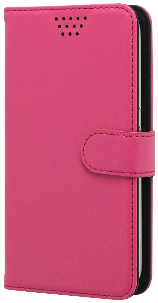 Muvit универсальный чехол для смартфонов 4, PinkMUCUN0279Универсальный чехол-книжка Muvit предназначен для защиты корпуса и экрана смартфона диагональю 4 от механических повреждений и царапин в процессе эксплуатации. Имеется свободный доступ ко всем разъемам и кнопкам устройства. Надежная фиксирующая смартфон внутренняя поверхность. Подходит для смартфонов с любым расположением камеры. Имеет специальный карман для пластиковых карт. На внутренней стороне чехла есть специальная площадка, которая позволяет вращать ваш телефон на 360°.